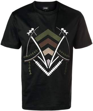 Les Hommes embroidered T-shirt