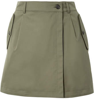 Paul & Joe Zenitude Wrap-effect Cotton Shorts - Army green