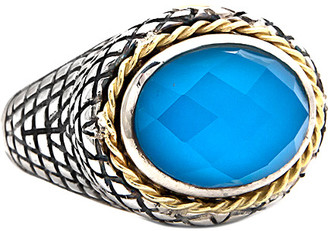 Candela Andrea Ibiza 18K & Silver Turquoise Doublet Ring
