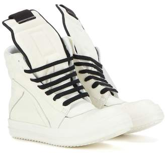 Rick Owens Geobasket leather high-top sneakers