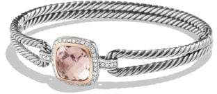 David Yurman Albion® Bracelet With Morganite, Diamonds And 18K Gold