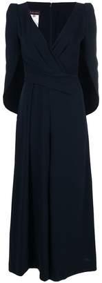 Talbot Runhof draped cape style jumpsuit