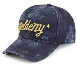 Golden Goose Men's Goldeny Distressed Baseball Cap - Navy Gold