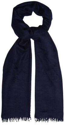 Co Begg & Staffa Cashmere And Silk Blend Scarf - Mens - Navy