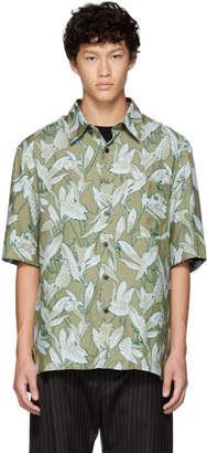 Lanvin Green Oversized Print Shirt