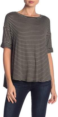 Olivia Moon Striped Short Sleeve Tee