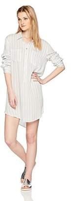En Creme Junior's Long Sleeve Striped Shirt Dress