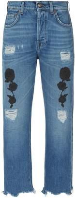 7 For All Mankind Josefina High Waist Uneven Hem Jeans