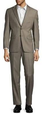 Lauren Ralph Lauren Sharkskin Slim-Fit Wool Suit