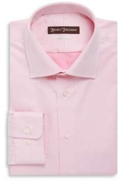 Hickey Freeman Classic Fit Solid Twill Dress Shirt