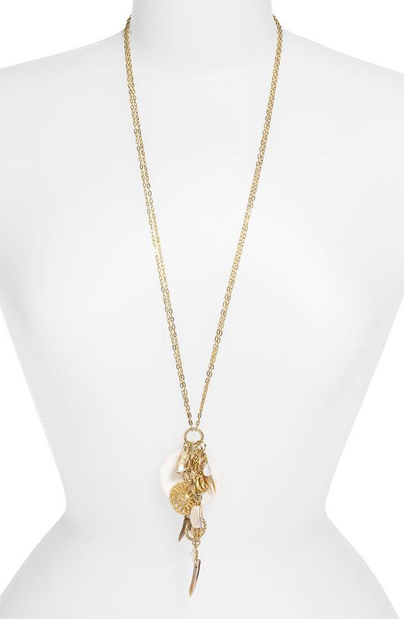 Nordstrom 'Boho Charms' Sun Disc Pendant Necklace