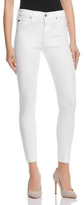 AG Jeans Farrah Skinny High-Rise Ankle Jeans in White