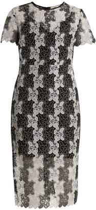 Diane von Furstenberg Bi-colour lace dress