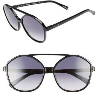 Women's Raen Torrey 58Mm Aviator Sunglasses - Black $150 thestylecure.com