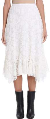 See by Chloe Pleated Lace Skirt