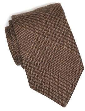 Drakes Drake's Brown Prince of Wales Plaid Tie