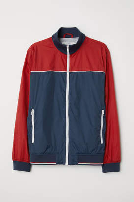 H&M Jacket with Stand-up Collar - Red