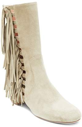 Laurence Dacade Women's River Suede Fringe Mid-Calf Boots