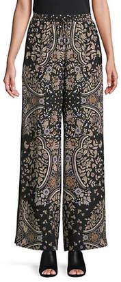 Max Mara Alpino Printed Silk Pants