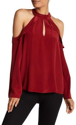 Ramy Brook Martie Cold Shoulder Silk Blouse