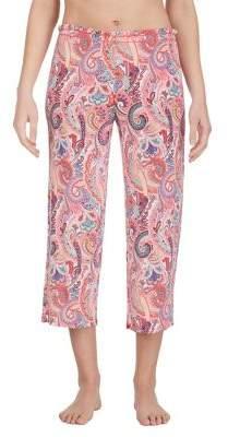 Ellen Tracy Paisley Cropped Pajama Pants