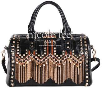 Nicole Lee Tatiana Chain-Fringe Boston Bag