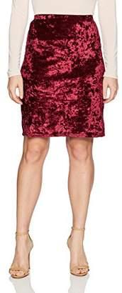 Star Vixen Women's Petite Knee Length Classic Stretch Pencil Skirt,PL