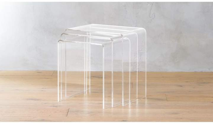 Cb2 3-Piece Peekaboo Acrylic Nesting Table Set