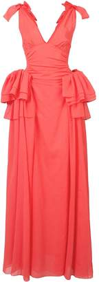 Rosie Assoulin Tie Sleeve Ruffle Gown