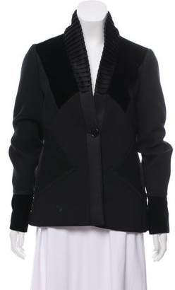 Etro Velvet-Accented Long Sleeve Jacket