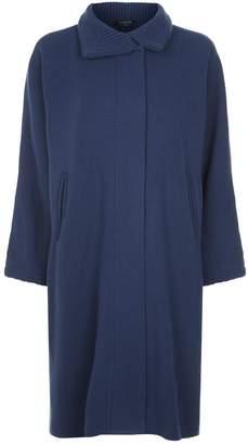 Harrods Ribbed Trim Cashmere Coat