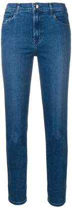 J Brand cropped slim-fit jeans