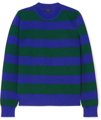 Joseph Striped Knitted Sweater - Navy