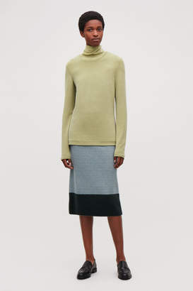 Cos CUPRO ROLL-NECK TOP