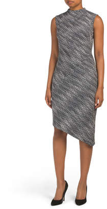 Banana Republic Tweed Asymmetrical Hem Dress