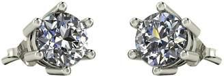 Moissanite 9 Carat White Gold 1 Carat Stud Earrings