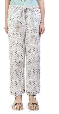Loewe X Paula's Ibiza Printed Linen Pajama Trousers