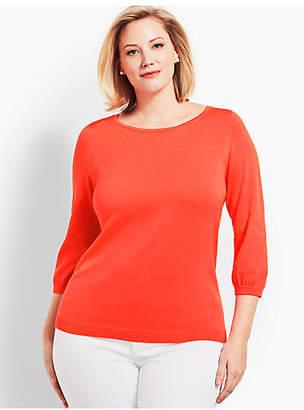 Talbots Bonnie Bows Crewneck Sweater