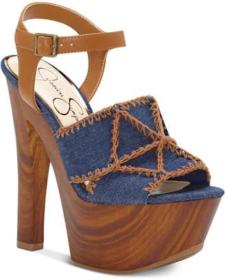 Jessica Simpson Dezzie Mega Wood-Platform Sandals Women's Shoes
