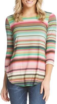 Karen Kane Mixed Stripe Top