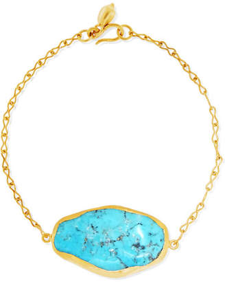 18-karat Gold Turquoise Bracelet - one size Pippa Small