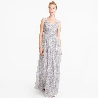 Heidi long dress in watercolor silk chiffon $298 thestylecure.com