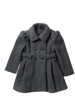 Rothschild Faux Wool Sparkle Bow Coat (Little Girls)
