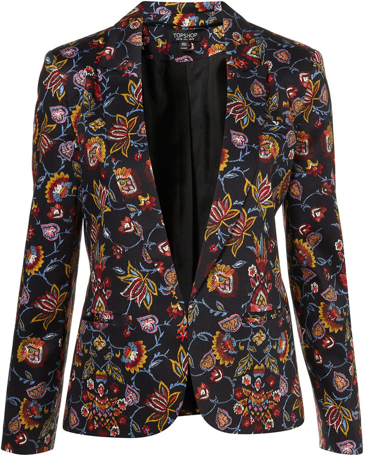 Co-ord Tapestry Floral Blazer