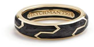 David Yurman Men's Forged Carbon Band Ring in 18K Gold