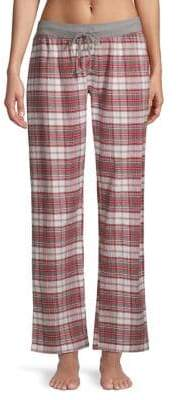PJ Salvage On Holiday Plaid Cotton Pajama Pants