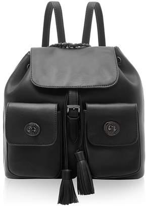 Marc B Black Double Pocket Backpack