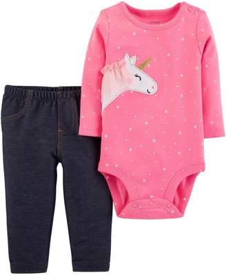Carter's Baby Girl Unicorn Bodysuit & Jeggings Set