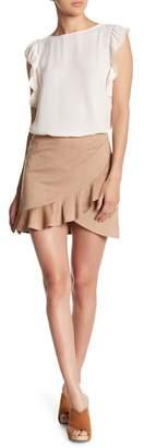 BB Dakota Asymmetrical Ruffled Hem Skirt