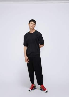 Issey Miyake Wrinkle Knit Short Sleeve Sweater